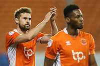 Blackpool's Clark Robertson celebrates with fans after the match<br /> <br /> Photographer Alex Dodd/CameraSport<br /> <br /> The EFL Sky Bet League Two - Blackpool v Stevenage - Tuesday 14th March 2017 - Bloomfield Road - Blackpool<br /> <br /> World Copyright © 2017 CameraSport. All rights reserved. 43 Linden Ave. Countesthorpe. Leicester. England. LE8 5PG - Tel: +44 (0) 116 277 4147 - admin@camerasport.com - www.camerasport.com