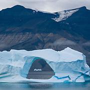 Icebergs near the small fishing village known as Uummannaq, Davis Strait, Greenland.
