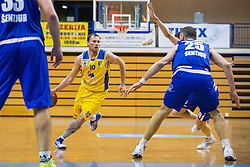 Jersin Boris of KK Sencur GGD during basketball match between KK Sencur  GGD and KK Tajfun Sentjur for Spar cup 2016, on 16th of February , 2016 in Sencur, Sencur Sports hall, Slovenia. Photo by Grega Valancic / Sportida.com