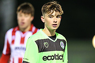Forest Green Rovers Daniel Jones(11) during the FA Youth Cup match between U18 Forest Green Rovers and U18 Cheltenham Town at the New Lawn, Forest Green, United Kingdom on 29 October 2018.