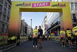Jake Quickenden (left) and James Lock during the 2019 London Landmarks Half Marathon.