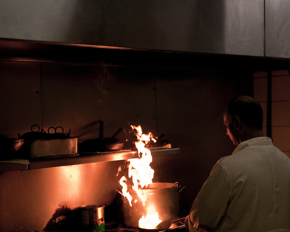 Chef cooking in a kitchen