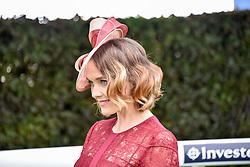 Victoria Pendleton at The Investec Derby, Epsom Racecourse, Epsom, Surrey, England. 02 June 2018.