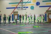 Shadow Indoor Percussion and Shadow Winterguard tour the Oregon School District for Fine Arts Week in Oregon, Wisconsin on April 6, 2016. <br /> <br /> Beth Skogen Photography - www.bethskogen.com
