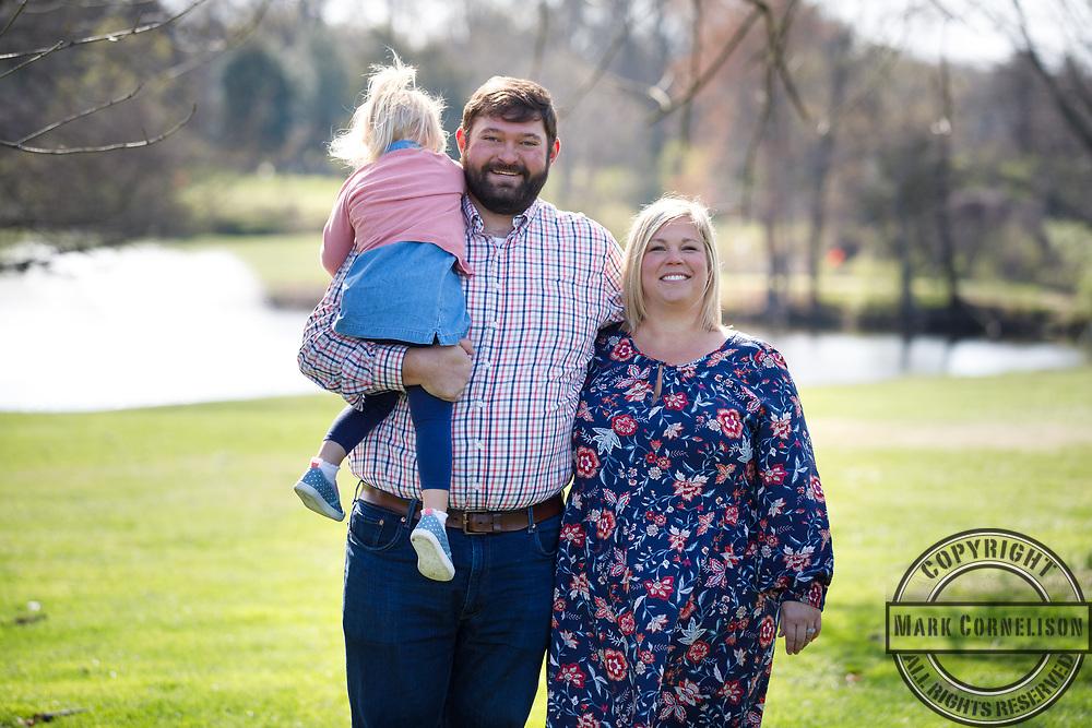 Mitch McConnell visits the University of Jake Stone family  on April 5, 2021. Photo by Mark Cornelison | UKphoto