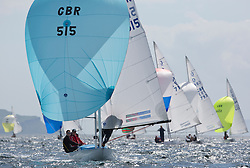 International Dragon Class Scottish Championships 2015.<br /> <br /> Day 1 racing in perfect conditions.<br /> <br /> GBR515, BASILISK, Patrick  Gifford & Micheal Hayles, Aldeburgh YC\<br /> <br /> <br /> Credit Marc Turner