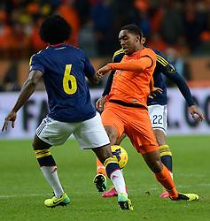 19-11-2013 VOETBAL: NEDERLAND - COLOMBIA: AMSTERDAM<br /> Nederland speelt met 0-0 gelijk tegen Colombia / Leroy Fer<br /> ©2013-FotoHoogendoorn.nl