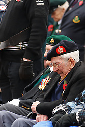 © under license to London News Pictures. 14/11/2010.  Army Veteran can no longer hold back the emotions during the 2 minute silence on Remembrance Sunday in Birmingham's Centenary Square. Photo credit should read Jason Patel/London News Pictures