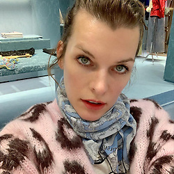 "Milla Jovovich releases a photo on Instagram with the following caption: ""From the dirt, mud and rain to... Paris! I\u2019m attending the @fencing_fie gala which I, as an avid sword enthusiast am so excited to experience and I also get to shop at my favorite @miumiu!!! Thank you @veesback for always making sure this bloody super hero can look like a lady! If you have keen eyes, you\u2019ll notice I\u2019m wearing an original scarf by @chrissbrenner, who\u2019s been making the most amazing fabric designs that I\u2019m dying over (you can\u2019t tell, but this one has a pic of @ambervalletta from a @versace show on it, so effin rad). So happy to have a fun, adult night out with my fabulous gusband!\ud83d\ude18 #fencing #miumiu #parisdiary"". Photo Credit: Instagram *** No USA Distribution *** For Editorial Use Only *** Not to be Published in Books or Photo Books ***  Please note: Fees charged by the agency are for the agency's services only, and do not, nor are they intended to, convey to the user any ownership of Copyright or License in the material. The agency does not claim any ownership including but not limited to Copyright or License in the attached material. By publishing this material you expressly agree to indemnify and to hold the agency and its directors, shareholders and employees harmless from any loss, claims, damages, demands, expenses (including legal fees), or any causes of action or allegation against the agency arising out of or connected in any way with publication of the material."