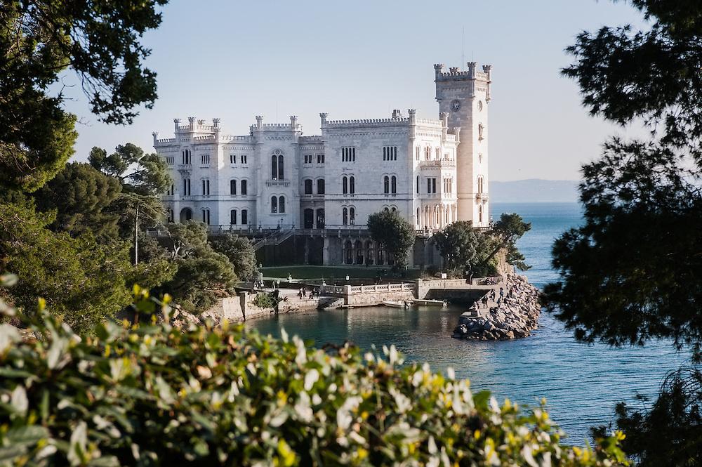 Miramare castle in Trieste, Italy