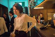HENRIETTA CHANNON, Nicky Haslam hosts dinner at  Gigi's for Leslie Caron. 22 Woodstock St. London. W1C 2AR. 25 March 2015