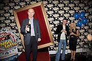 Gert Eklund, Joe Pasquale and Suzanne Shaw, Bingo Lotto launch party. Soho Hotel Richmond Mews. London. 29 February 2008.  *** Local Caption *** -DO NOT ARCHIVE-© Copyright Photograph by Dafydd Jones. 248 Clapham Rd. London SW9 0PZ. Tel 0207 820 0771. www.dafjones.com.