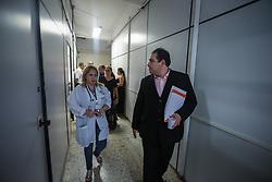 O vereador Dr. Thiago Duarte durante audiência pública para vistoria no PACS -  Pronto Atendimento Cruzeiro do Sul na qual chamamos os servidores para se unir e demonstrar o descaso do poder executivo com os funcionários e pacientes,  em Porto Alegre. FOTO: Jefferson Bernardes/ Agencia preview