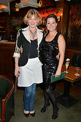 Left to right, SAMANTHA BOND and RUTHIE HENSHALL at One Night Only at The Ivy in aid of Acting For Others supported by Tanqueray No.TEN Gin at The Ivy, 1-5 West Street, London on 1st December 2013.
