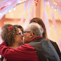 Sara Keeler and Ron Saucedo marry in the rotunda of the McKinley County Courthouse on Valentine's Day, Thursday, Feb. 14. Keeler is from Gallup and works on the 3rd floor of the courthouse.