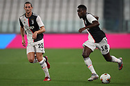 Juventus's French midfielder Adrien Rabiot and French midfielder Blaise Matuidi during the Serie A match at Allianz Stadium, Turin. Picture date: 26th June 2020. Picture credit should read: Jonathan Moscrop/Sportimage