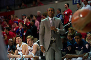 DALLAS, TX - JANUARY 4: Connecticut Huskies head coach Kevin Ollie looks on against the SMU Mustangs on January 4, 2014 at Moody Coliseum in Dallas, Texas.  (Photo by Cooper Neill/Getty Images) *** Local Caption *** Kevin Ollie