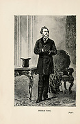 Frontispiece: Phileas Fogg. from the book ' Around the world in eighty days ' by Jules Verne (1828-1905) Translated by Geo. M. Towle, Published in Boston by James. R. Osgood & Co. 1873 First US Edition