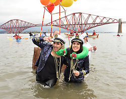 nearly a thousand brave souls took to the freezing waters of the Firth of Forth in Queensferry, Scotland, for the annual Loony Dook swim on January 1st.<br /> <br /> © Dave Johnston/ EEm