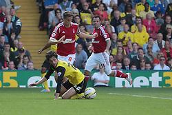 Watford's Diego Fabbrini goes down under pressure  - Photo mandatory by-line: Nigel Pitts-Drake/JMP - Tel: Mobile: 07966 386802 25/08/2013 - SPORT - FOOTBALL -Vicarage Road Stadium - Watford -  Watford v Nottingham Forest - Sky Bet Championship