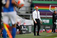 Sean Dyche Manager of Burnley during the Premier League match between Burnley and Brighton and Hove Albion at Turf Moor, Burnley, England on 26 July 2020.