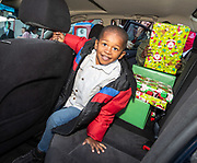 Bates Collision Repair gifts a car to the Bouldin family of Harris County Department of Education Fonwood Head Start, December 17, 2019.