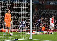 Anderlecht Aleksandar Mitrovic celebrates scoring his sides third goal<br /> <br /> - Champions League Group D - Arsenal vs Anderlecht- Emirates Stadium - London - England - 4th November 2014  - Picture David Klein/Sportimage