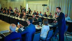 O prefeito Nelson Marchezan Júnior durante explanação na 77º Reunião Geral da Frente Nacional de Prefeitos. FOTO: Jefferson Bernardes