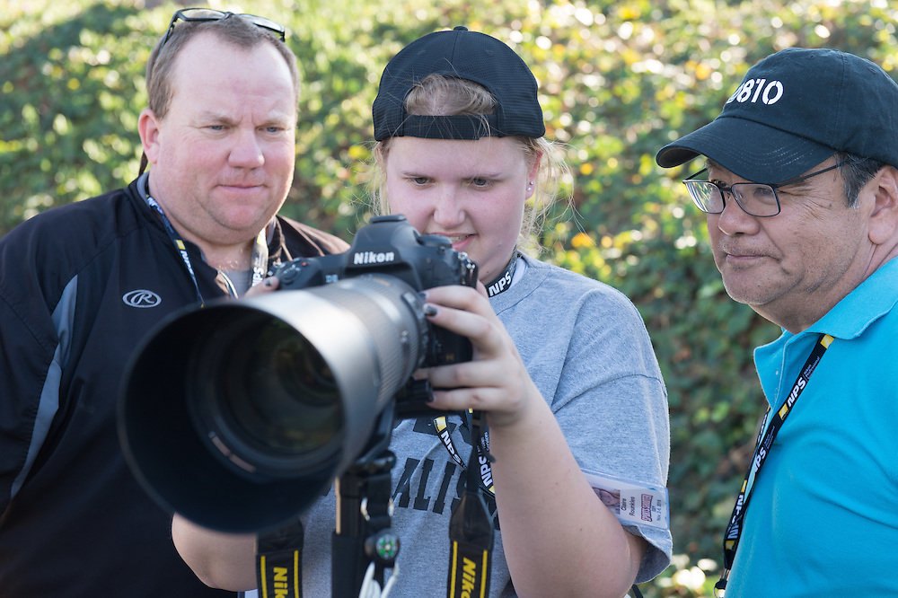 Behind the scenes at Sports Shooter Academy 13 in Costa Mesa, California on November 5, 2016.  The Sports Shooter Academy is sponsored by Nikon Professional Services. Behind the Scenes with the cast and crew of Sports Shooter Academy.
