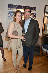SIMON & EMILIE GREGG at a party to celebrate the 30th anniversary of Linley held at Linley, 60 Pimlico Road, London on 3rd May 2016.
