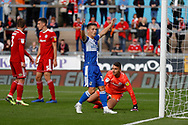 Bristol Rovers forward Tom Nichols celebrate a goal during the EFL Sky Bet League 1 match between Bristol Rovers and Accrington Stanley at the Memorial Stadium, Bristol, England on 7 September 2019.