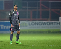 Lincoln City's Joan Luque<br /> <br /> Photographer Andrew Vaughan/CameraSport<br /> <br /> The EFL Checkatrade Trophy Second Round - Accrington Stanley v Lincoln City - Crown Ground - Accrington<br />  <br /> World Copyright © 2018 CameraSport. All rights reserved. 43 Linden Ave. Countesthorpe. Leicester. England. LE8 5PG - Tel: +44 (0) 116 277 4147 - admin@camerasport.com - www.camerasport.com