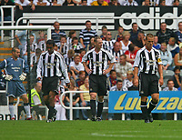 Photo: Andrew Unwin.<br /> Newcastle United v Villarreal. Pre Season Friendly. 05/08/2006.<br /> Newcastle's Scott Parker (R) looks dejected as his side concede a goal.