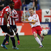 New York Red Bulls player Dax McCarty in action during the New York Red Bulls V Chivas USA Major League Soccer match at Red Bull Arena, Harrison, New Jersey, 23rd May 2012. Photo Tim Clayton