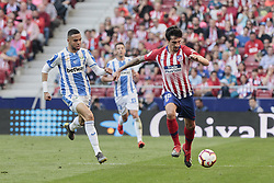 March 9, 2019 - Madrid, Madrid, Spain - Atletico de Madrid's Stefan Savic and CD Leganes's Youssef En-Nesyri during La Liga match between Atletico de Madrid and CD Leganes at Wanda Metropolitano stadium in Madrid. (Credit Image: © Legan P. Mace/SOPA Images via ZUMA Wire)