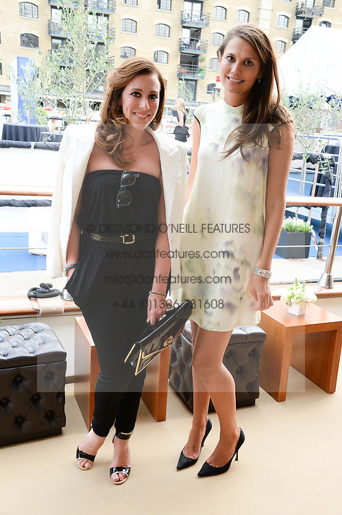 The Johnnie Walker Blue Label and David Gandy Drinks Reception aboard John Walker & Sons Voyager, St.Georges Stairs Tier, Butler's Wharf Pier, London, UK on 16th July 2013.<br /> Picture Shows:-Dee O'Leary and Olivia Cole.