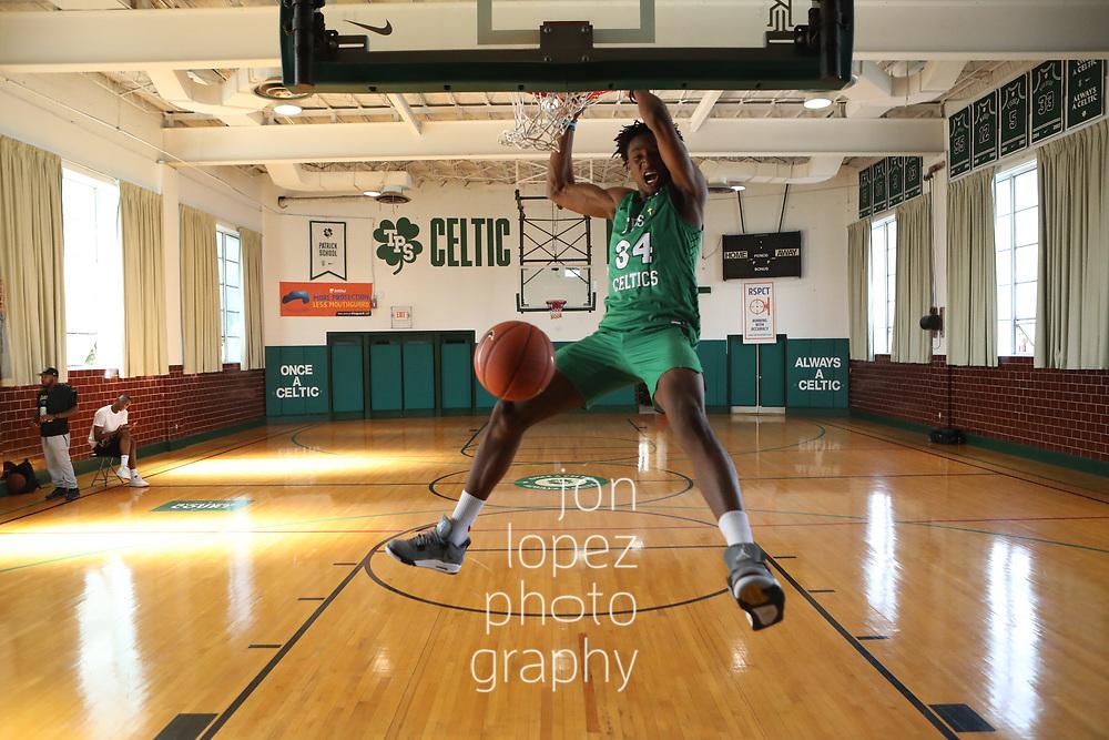 HILLSIDE, NJ Thursday, September 26, 2019 - 2019 SLAM lifestyle/editorial feature with Jonathan Kuminga of The Patrick School.<br /> NOTE TO USER: Mandatory Copyright Notice: Photo by Jon Lopez / IG: @jonlopez13