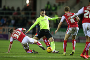 Brighton central midfielder, Beram Kayal (7) shoots during the Sky Bet Championship match between Rotherham United and Brighton and Hove Albion at the New York Stadium, Rotherham, England on 12 January 2016.