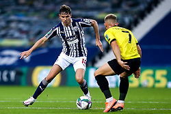 Conor Townsend of West Bromwich Albion takes on George Thomson of Harrogate Town - Mandatory by-line: Robbie Stephenson/JMP - 16/09/2020 - FOOTBALL - The Hawthorns - West Bromwich, England - West Bromwich Albion v Harrogate Town - Carabao Cup