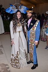 Lana del Rey and Jared Leto walking the red carpet at The Metropolitan Museum of Art Costume Institute Benefit celebrating the opening of Heavenly Bodies : Fashion and the Catholic Imagination held at The Metropolitan Museum of Art  in New York, NY, on May 7, 2018. (Photo by Anthony Behar/Sipa USA)