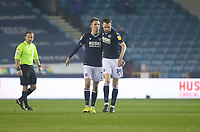 Millwall's Scott Malone celebrates scoring his side's first goal with Jed Wallace<br /> <br /> Photographer Rob Newell/CameraSport<br /> <br /> The EFL Sky Bet Championship - Millwall v Preston North End - Tuesday 2nd March 2021 - The Den - London <br /> <br /> World Copyright © 2021 CameraSport. All rights reserved. 43 Linden Ave. Countesthorpe. Leicester. England. LE8 5PG - Tel: +44 (0) 116 277 4147 - admin@camerasport.com - www.camerasport.com