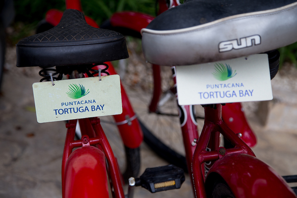 PUNTA CANA, DOMINICAN REPUBLIC-DECEMBER 3, 2014: Bicycles at the Tortuga Bay Resort in Punta Cana. Story on tourism to the Caribbean Island.  (Photo by Angel Valentin/Getty Images for Der Spiegel)