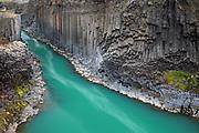 The magical Stuðlagil basalt column canyon, in East Iceland.