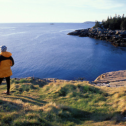 Acadia N.P., ME. Isle Au Haut. Ebens Head.  Penobscot Bay.