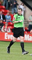 Photo: Mark Stephenson.<br />Walsall v Hereford United. Coca Cola League 2. 09/04/2007. Referee MR G J Sutton