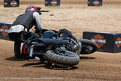 Danger Dan Hardick with his new Harley-Davidson dual-sport on the