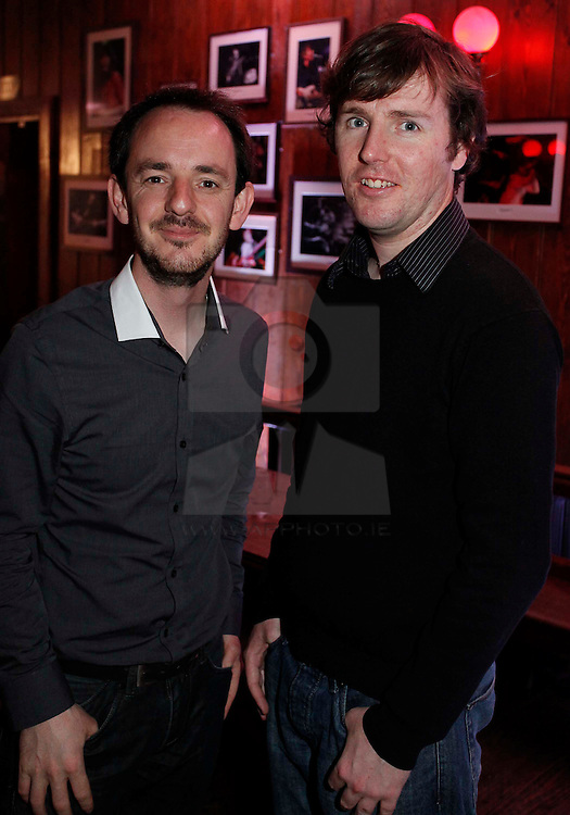 Daragh Doyle and Anthony McGuinness pictured at the launch of Arthur's Day 2011. Pic Andres Poveda CPR
