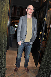 DINOS CHAPMAN at a reception hosted by Ralph Lauren Double RL and Dexter Fletcher before a private screening of Wild Bill benefitting FilmAid held at RRL 16 Mount Street, London on 26th March 2012.