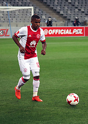 Erwin Isaacs in action for Ajax Cape Town in the match between Ajax Cape Town and Golden Arrows at the Cape Town Stadium on Saturday, August 19, 2017.