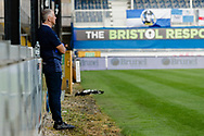Bristol ball boy watches the game during the EFL Sky Bet League 1 match between Bristol Rovers and Ipswich Town at the Memorial Stadium, Bristol, England on 19 September 2020.